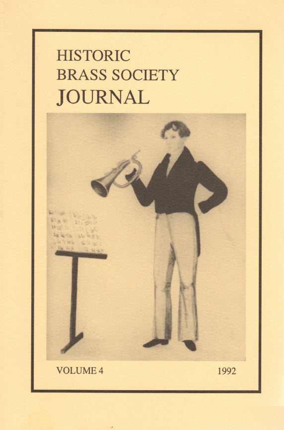 Historic Brass Journal - Volume 4 - 1992