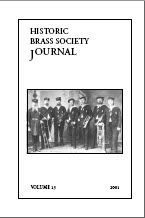 Historic Brass Journal - Volume 13 - 2001