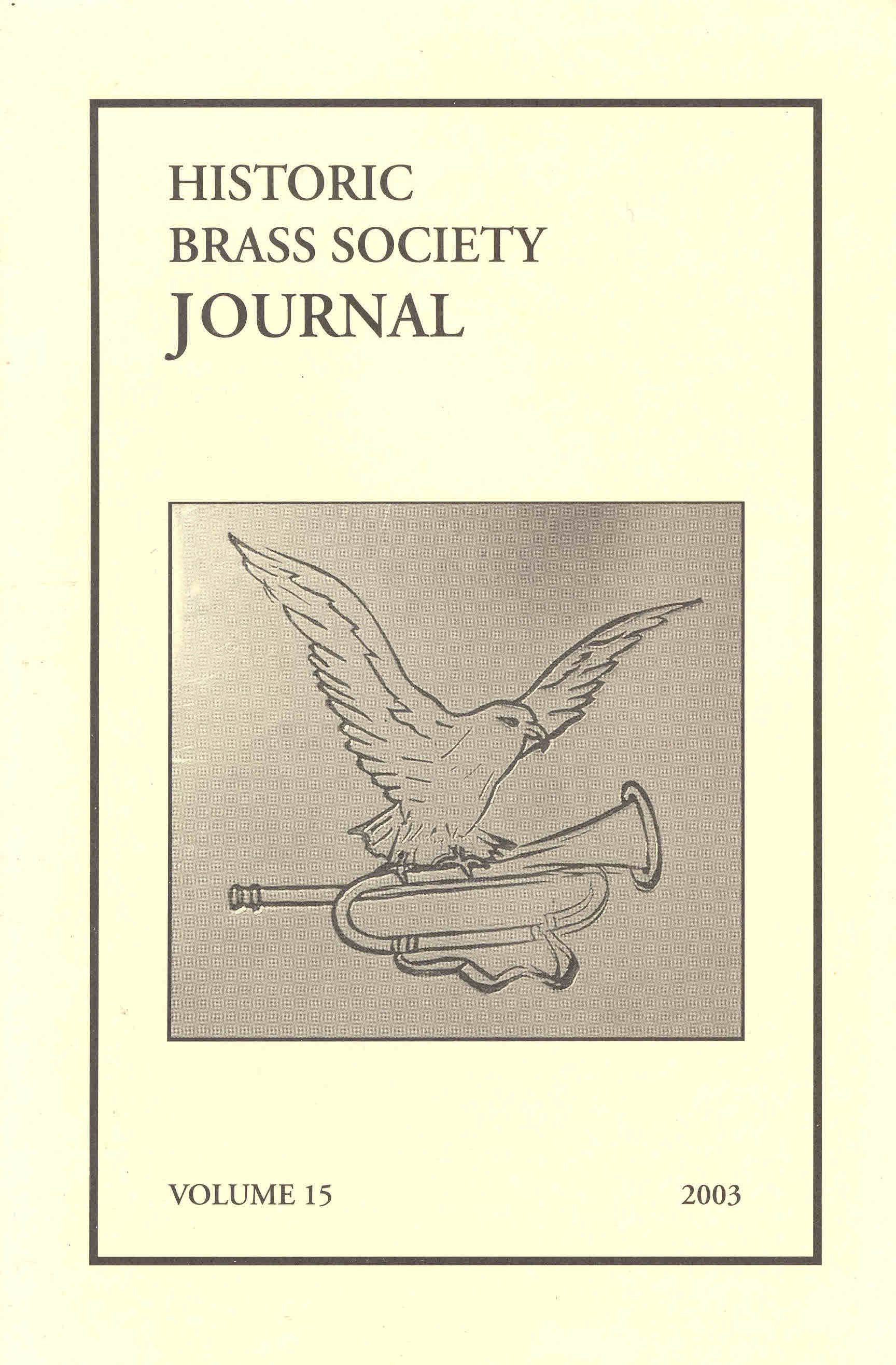 Historic Brass Journal - Volume 15 - 2003