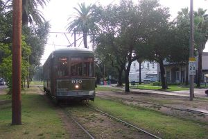 Old-fashioned New Orleans streetcar